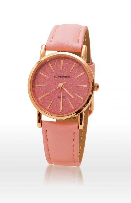 la montre Scherrer rose