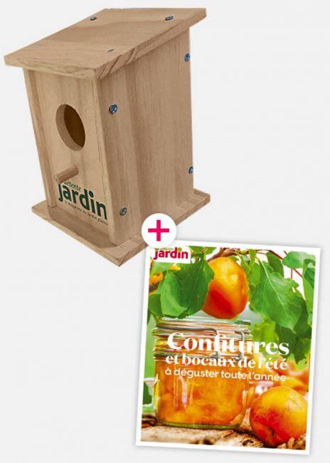 nichoir à oiseaux + booklet Confitures