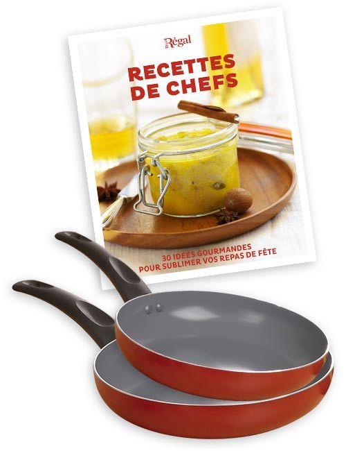 Le lot de 2 poêles + le booklet Recettes de chefs