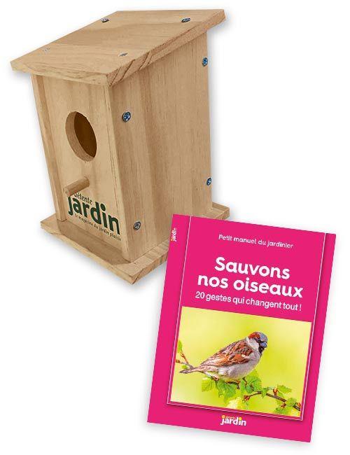 Le nichoir + le booklet Sauvons nos oiseaux