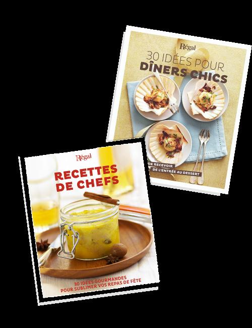 Livres Régal Recettes de chef + 30 idées pour dîners chics